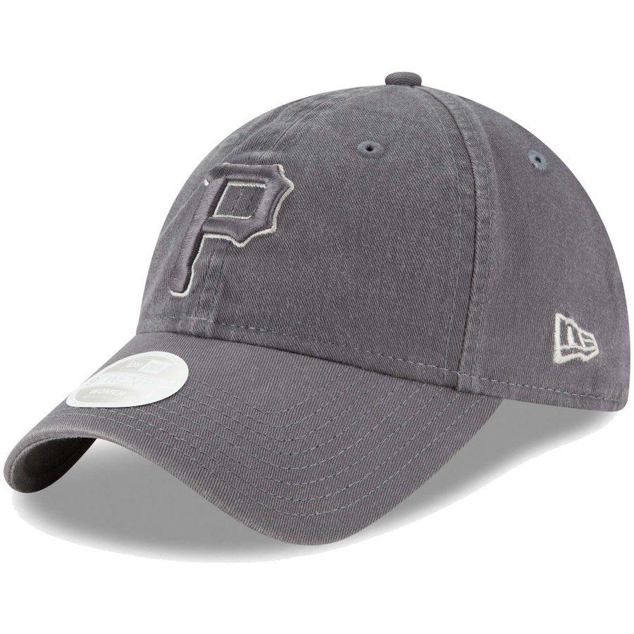 Women s Pittsburgh Pirates New Era Graphite Preferred Pick 9TWENTY  Adjustable Hat c484bd85f0cf