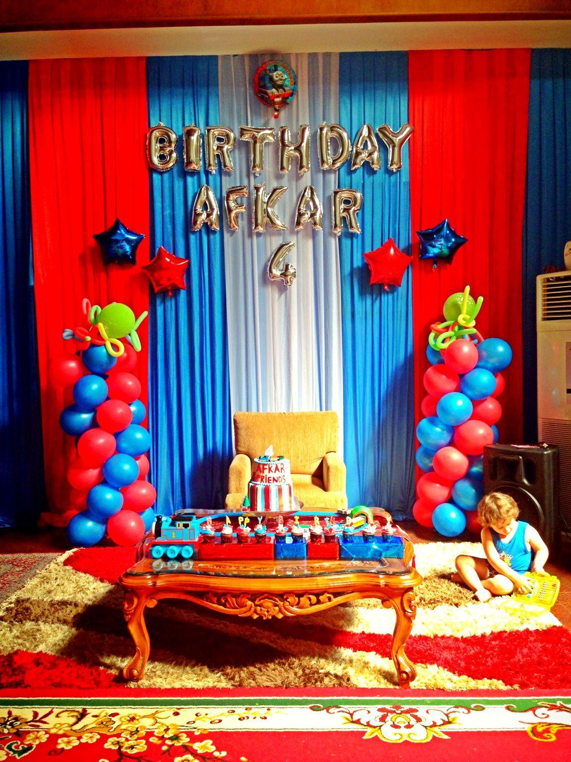 Thomas and friends birthday party Birthday Afkar 4th