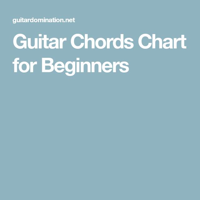 Guitar Chords Chart for Beginners | Music | Pinterest | Guitar chord ...