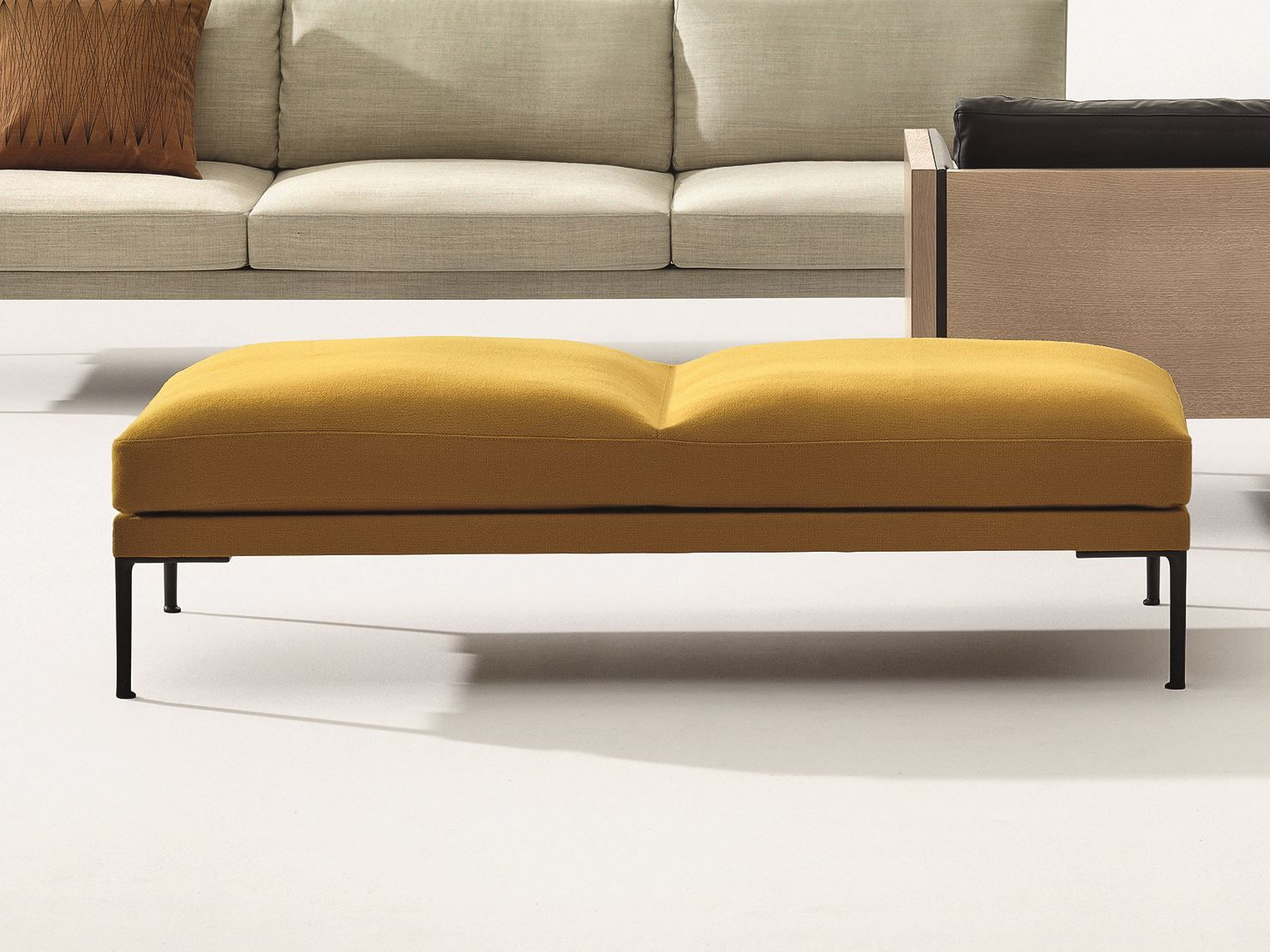 Upholstered Backless Bench Seating Steeve Collection By
