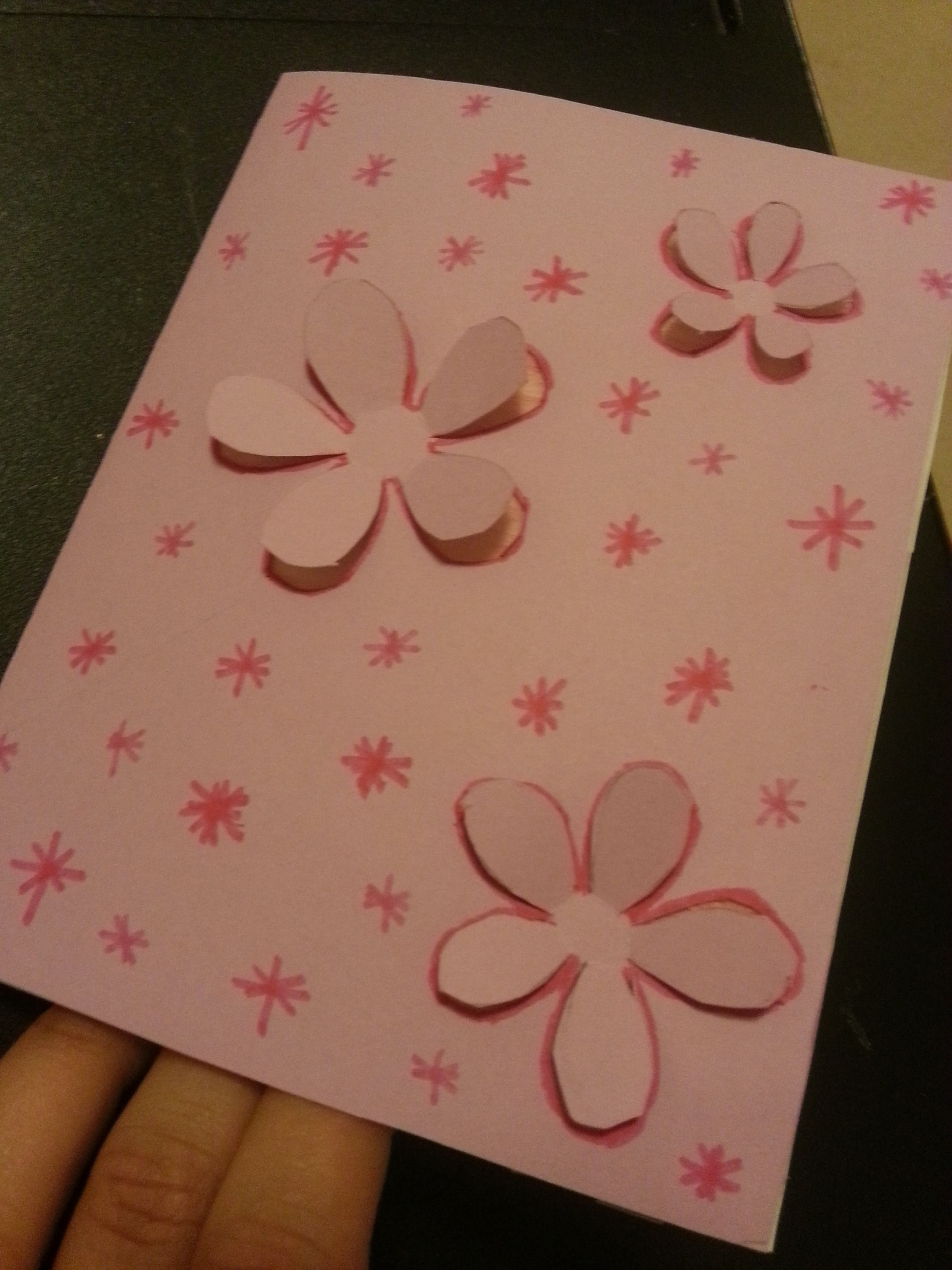 Mothers day card I made for mom :)