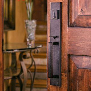Sure-Loc Vail Front Door Vintage Oil-rubbed Bronze Handleset with ...