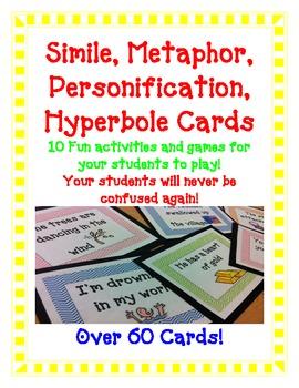 FIGURATIVE LANGUAGE Simile Metaphor Hyperbole Personification GAMES ...