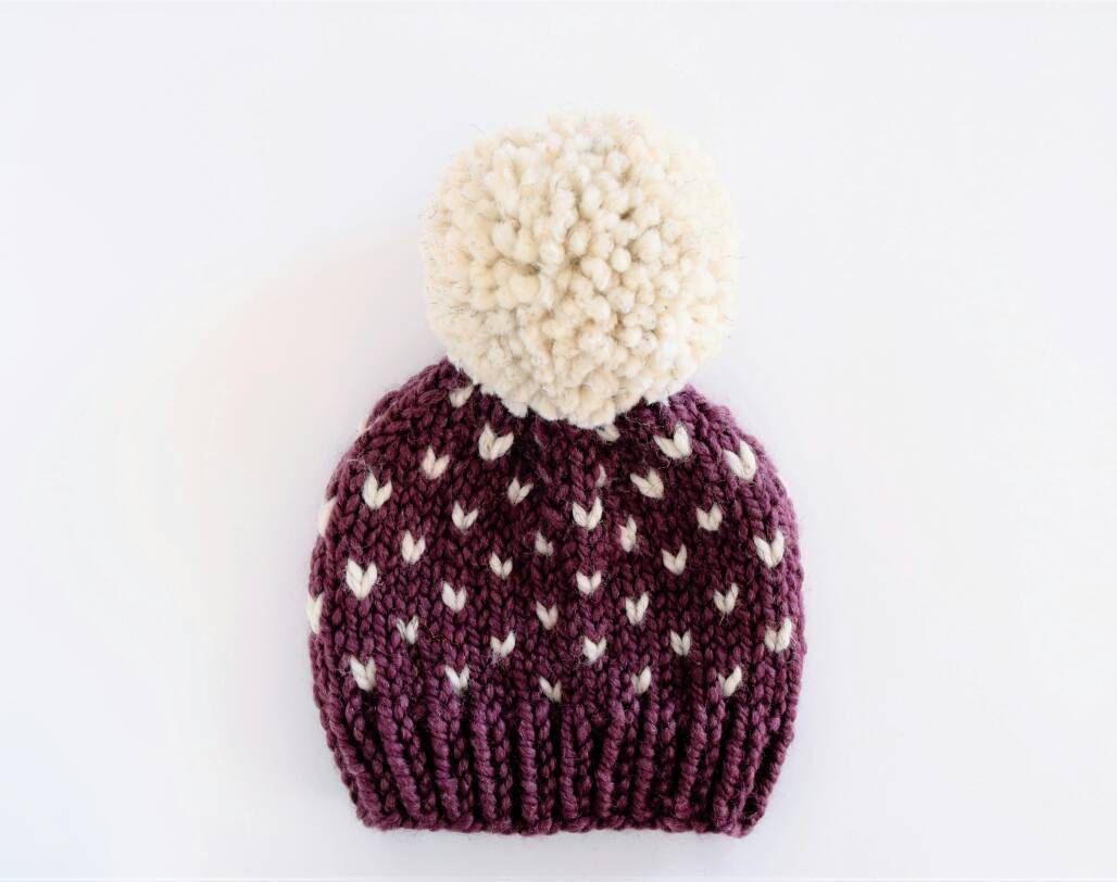 Fair isle hat pattern hat knitting pattern little hearts fair isle hat pattern hat knitting pattern little hearts bankloansurffo Gallery