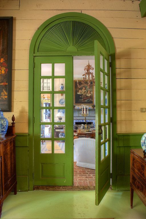 Arched green door of Furlow Gatewood - Rod Collins photo