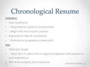 Chronological Resume  Chronological Resumes
