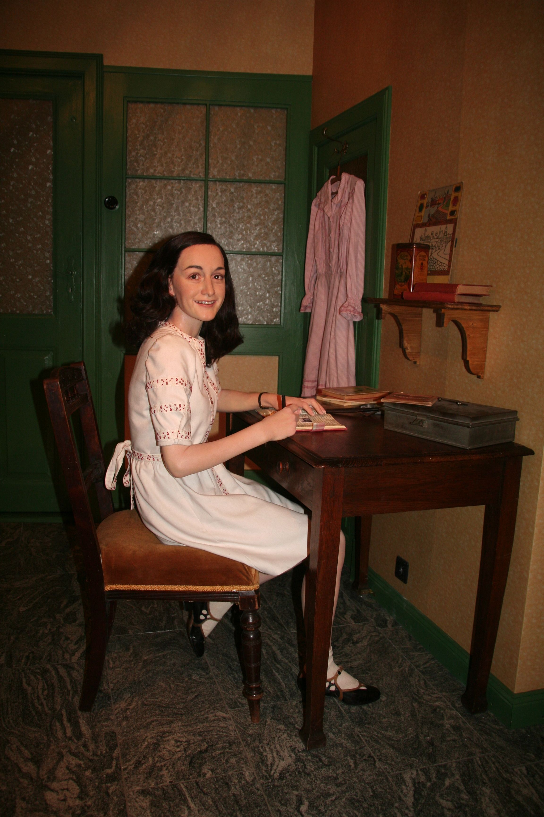 The Uncannily Lifelike Wax Form Of Anne Frank In Madame