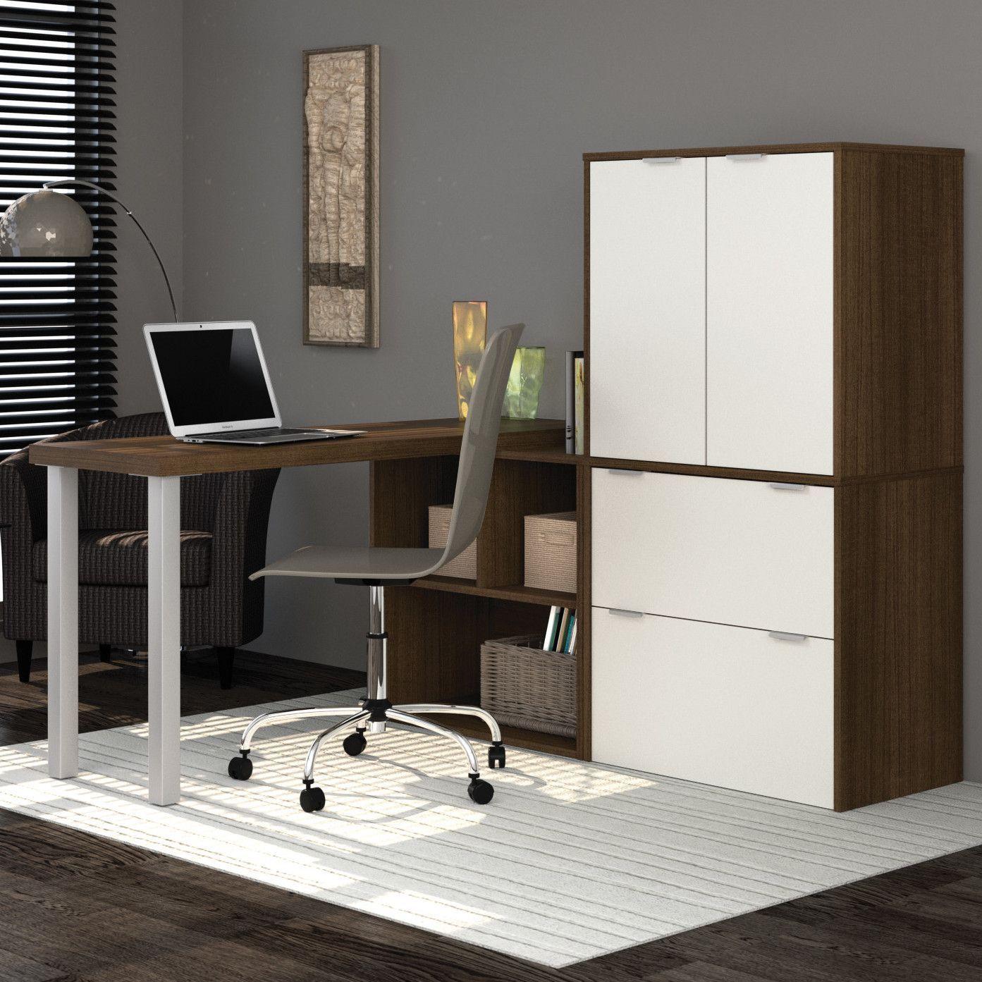 I piece lshaped desk office suite products pinterest