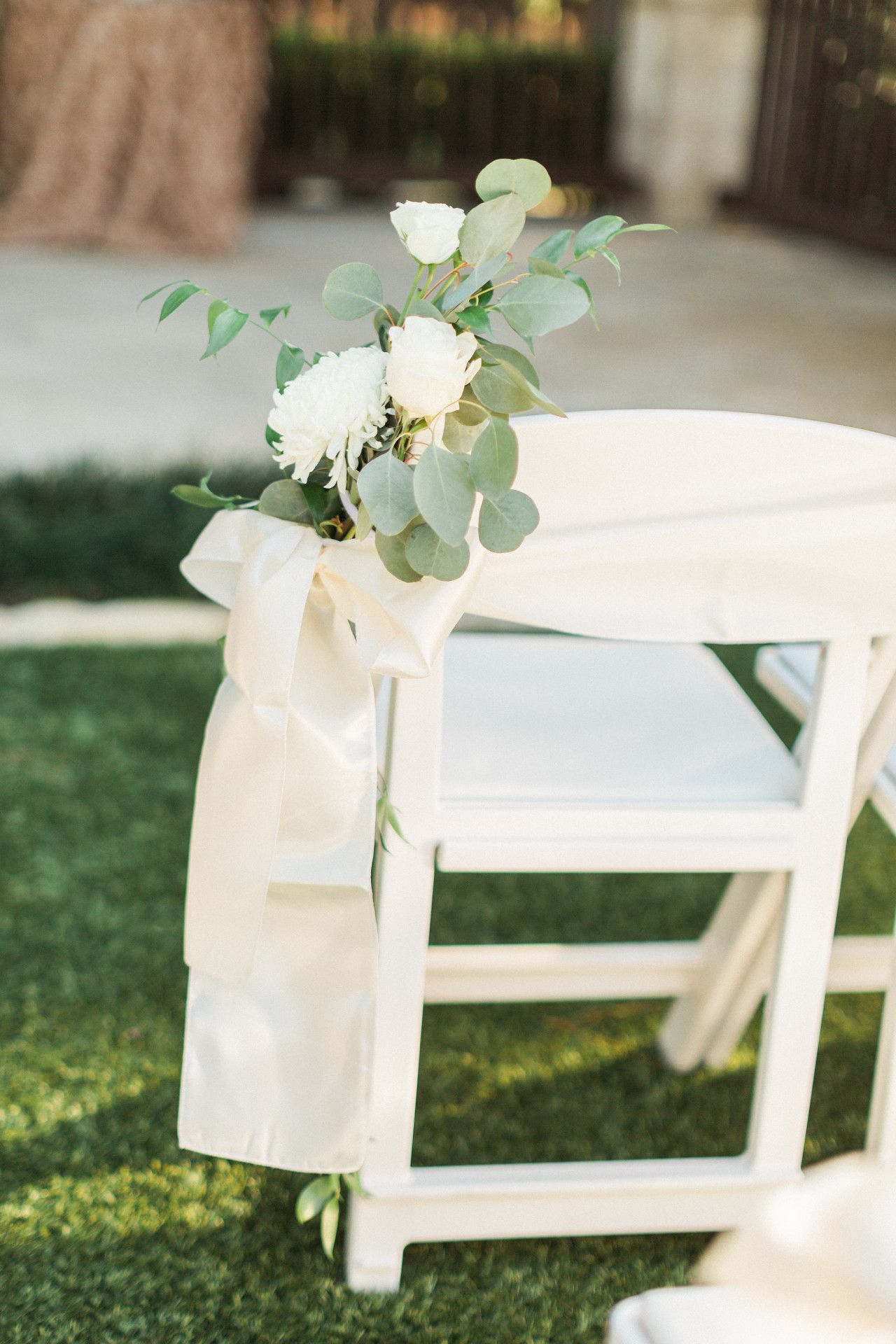 White Wedding Aisle Marker Outdoor Wedding Aisle Marker