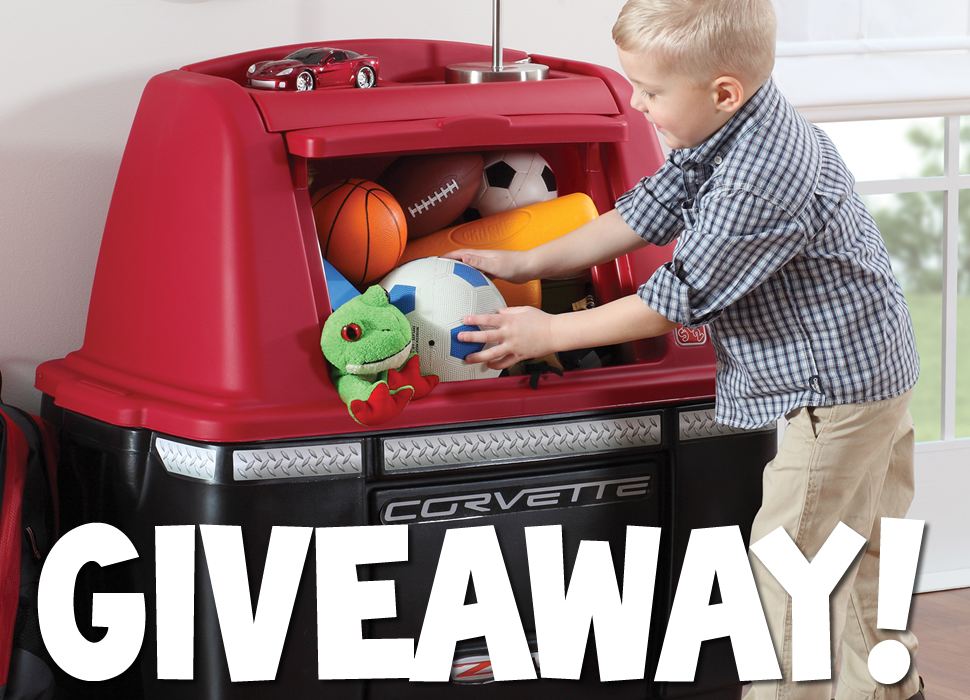 Win A Corvette Storage Chest From Step2 Thrifty Nifty Mommy Kids Storage Storage Chest Storage