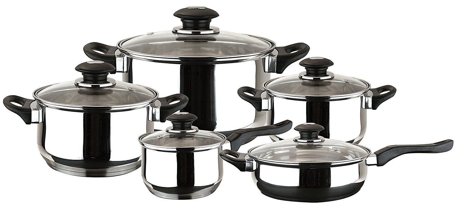 Magefesa 01BXFAMILY10 10-Piece Family Stainless Steel Cookware Set >>> Find out more details by clicking the image : Cookware Sets