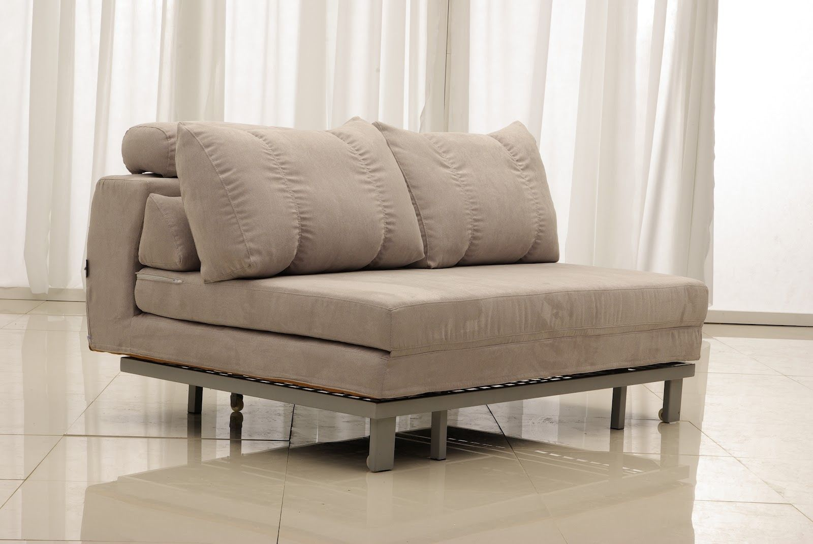 Furniture Terrific Most Comfortable Grey Sofa Beds With Double Pillow Also Curtain And Shining Floor Ideas Bed