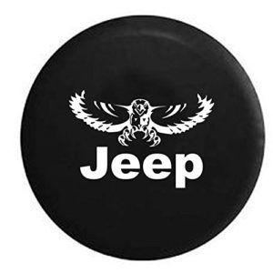 Oem Vinyl Black Jeep Soaring Eagle Spare Tire Cover Tire Cover