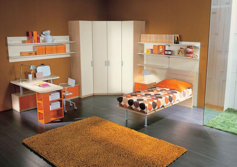 60 excellent teen bedroom design ideas 60 excellent teen bedroom design ideas with orange bed and wooden study desk and big wardrobe design - Orange Teen Room Decor