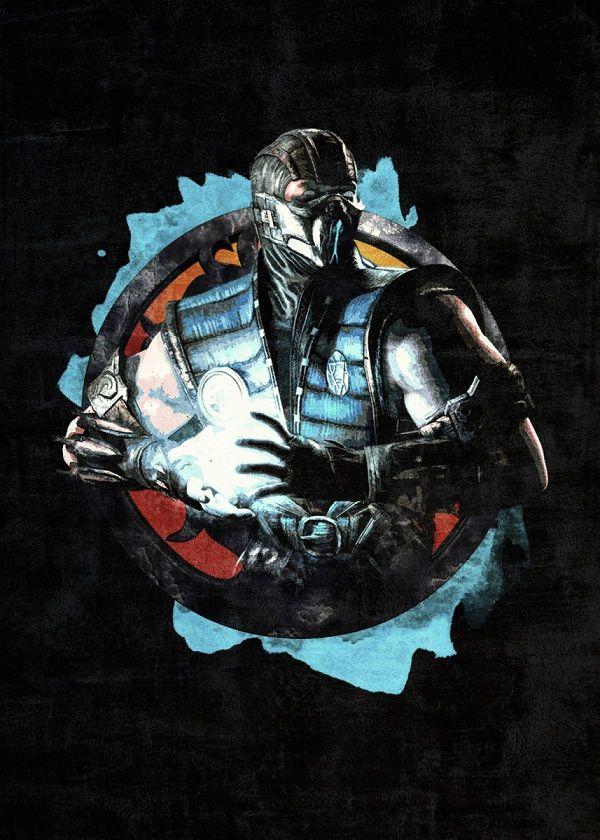 Mortal Kombat Circle Characters Displate Posters