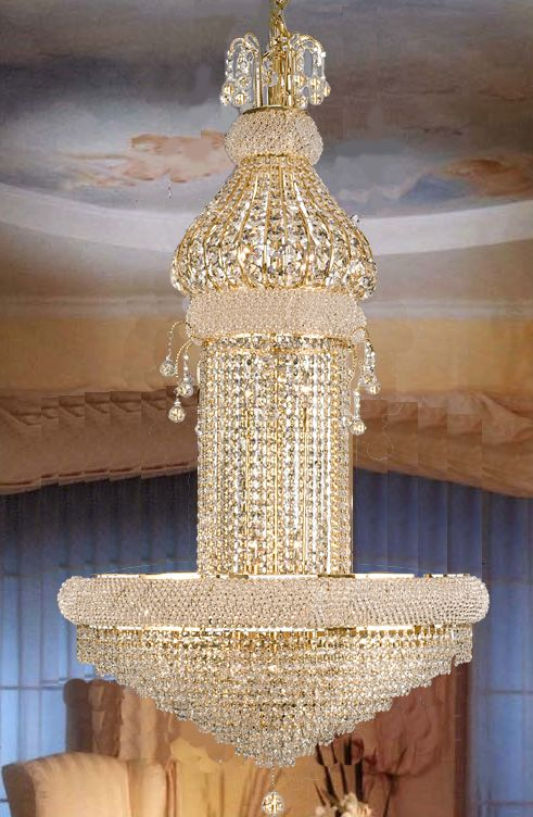 F93 625 20 Gallery Empire Style Crystal Chandelier
