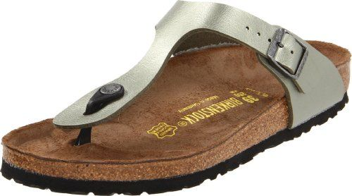 Express your fashion sensibility with the Birkenstock Gizeh Birko-FlorTM sandal. The synthetic upper of this womens casual sandal is crafted in a carefree thong. Cork and latex assure shock-absorbing abilities; the cushioning, punched EVA sole can be replaced. The contoured footbed of the Birkenstock Gizeh Birko-FlorTM sandal creates a natural walking motion for your leisurely ventures.