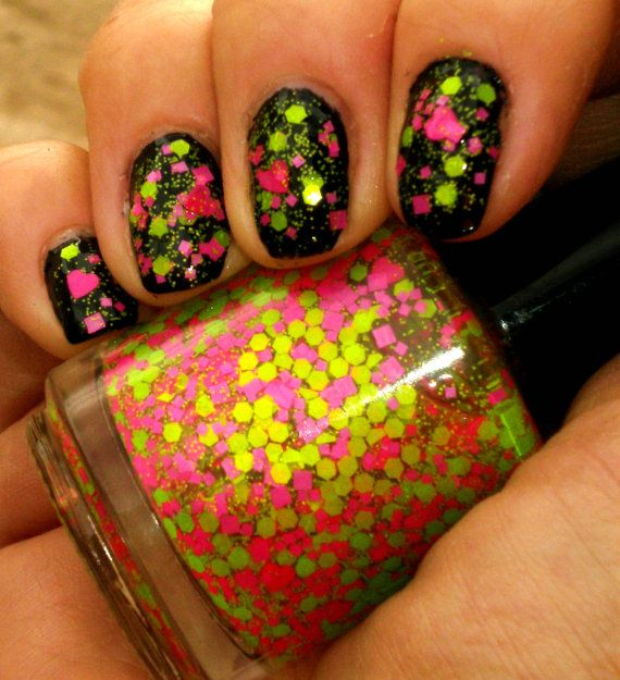 Neon Glitter Nail Polish - NEW - JOLLY RANCHERS - Custom Blended ...
