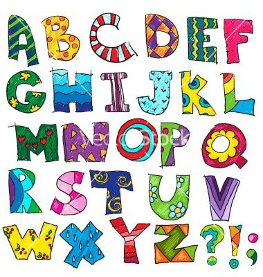 abc kids funny alphabet vector 1764144 by kamenuka on vectorstock - Alphabet Pictures For Kids