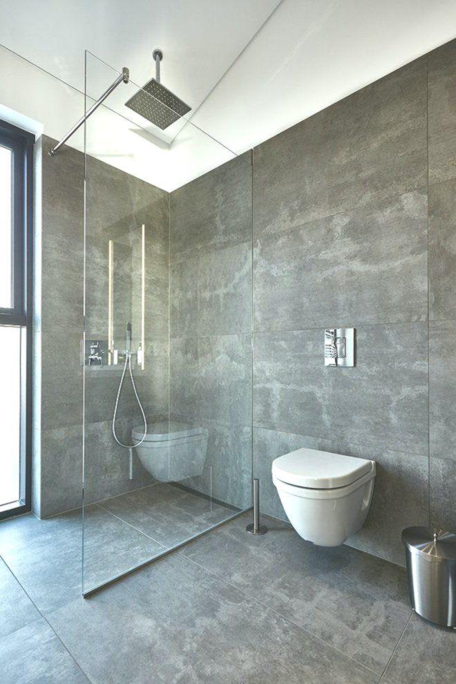 Badezimmer Raumhoch mit Rinnen 60x120 cm anthrazit