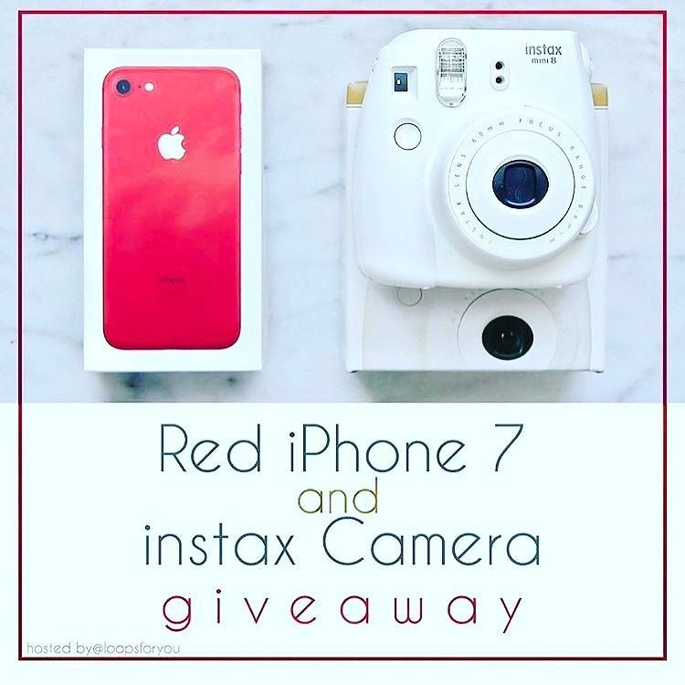 GO TO @katspell_sarahanna NEXT!  We're giving YOU a chance to win a Brand New Special Edition RED IPhone 7 AND a Brand New Fuji Instax 8 Camera!!   To Enter:  1FOLLOW ME  2LIKE this photo  3GO TO @katspell_sarahanna 4REPEAT these steps until you come back to the account you started with and comment DONE  For a BONUS Tag some real friends who would be interested in this giveaway!  See original post for all terms and conditions. Ends Soon! Good Luck!!