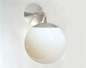globe wall sconce glass ball wall modern mid century wall mount sconce white glass globe the orbiter neckless globe pendants were staple of mid century clear by sanctumlighting