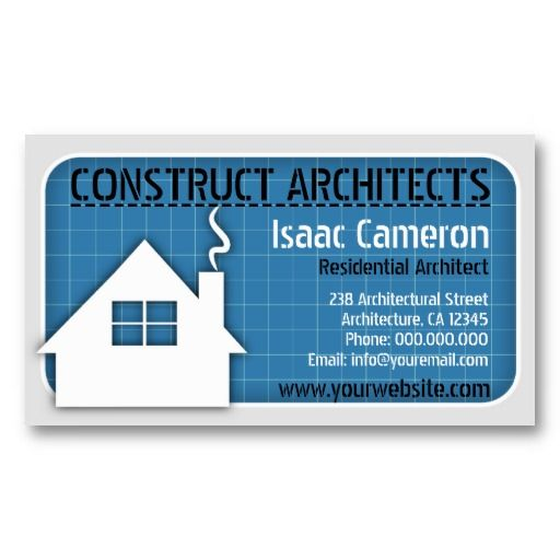 Blueprint professional architect business cards card templates blueprint professional architect business cards malvernweather Gallery