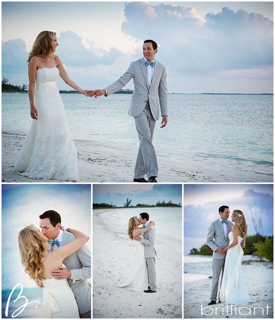 Beach wedding bride & groom Parrot Cay | Brilliant By Tropical ...