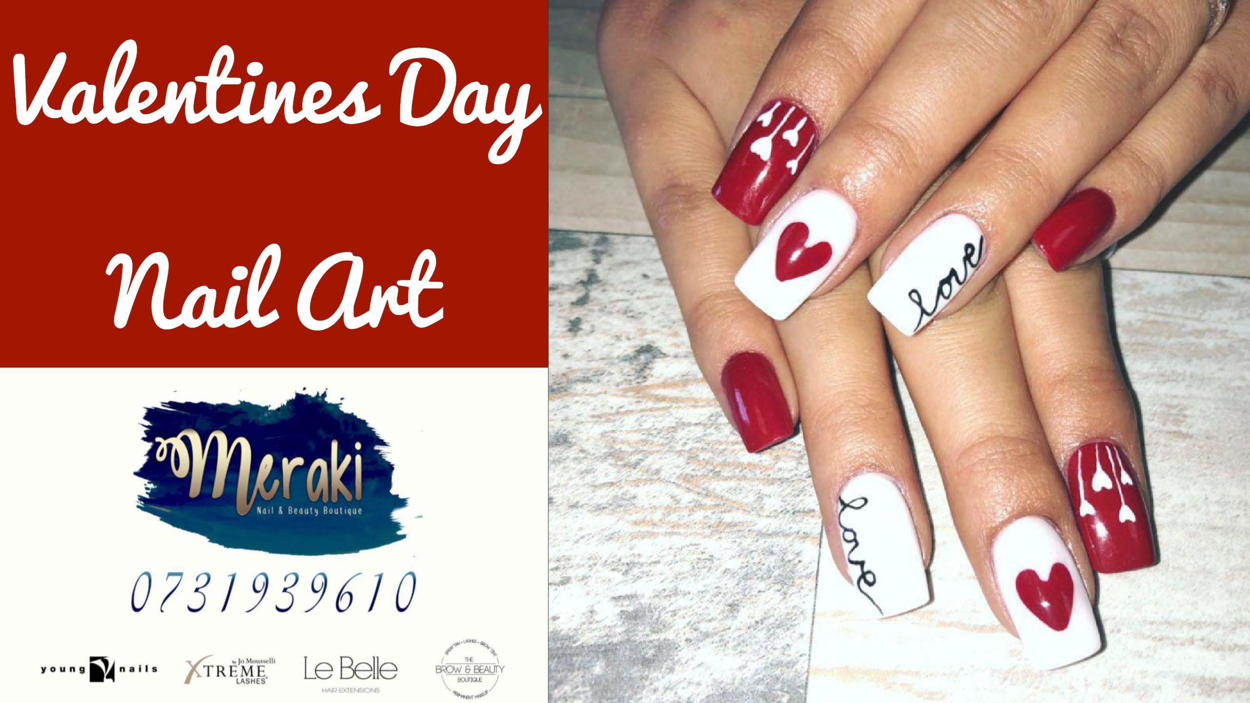 My February (Love) Nail Art Tutorial done by Claudette at Meraki ...