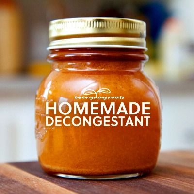 Homemade Natural Spicy Cider Decongestant and Expectorant - I used a similar recipe last winter and it really worked! It also helps with sinus infections.