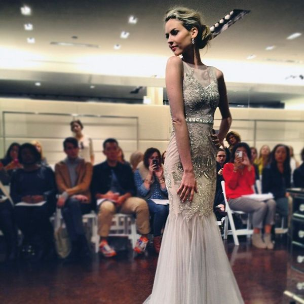 Glamorous bridal dress with intricate beaded design #wedding #weddingdress #gatsby #bride #artdeco