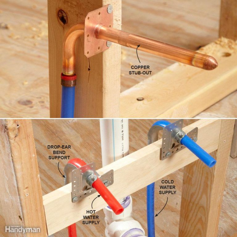 How do i connect pex to my plumbing fixtures house for Plastic water pipe pex