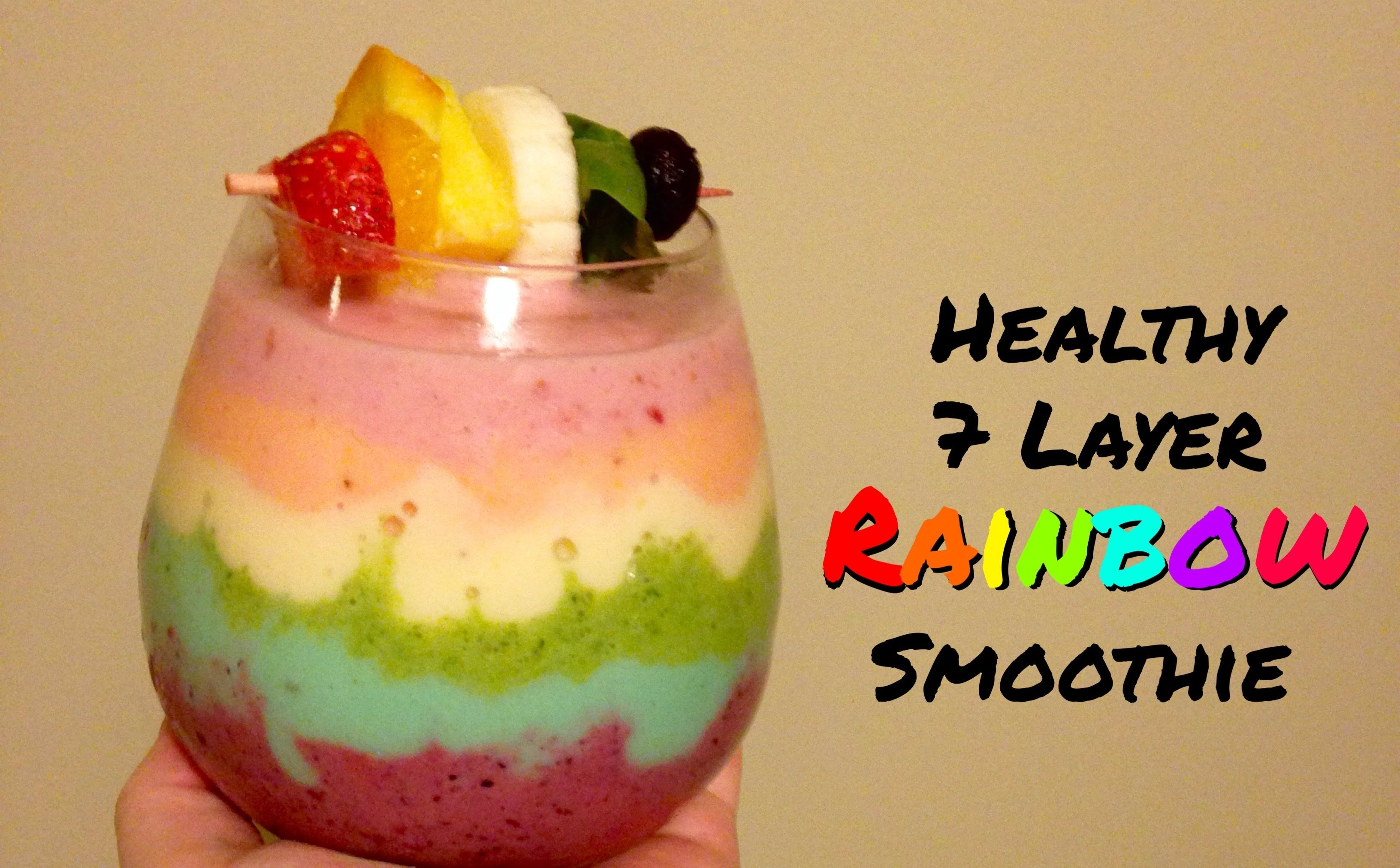 Healthy 7 Layer Rainbow Smoothie