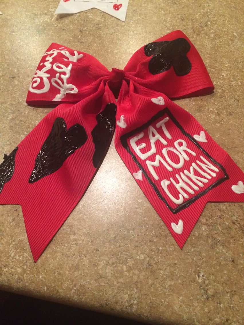Chickfila cow appreciation day bows red crafts pinterest