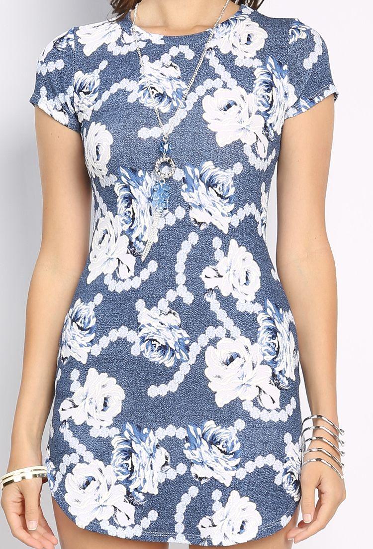 Floral mini dress wnecklace r de casa pinterest mini dresses