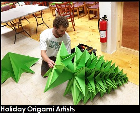 Holiday Origami Artists Entertain Guests As Our Origami Masters