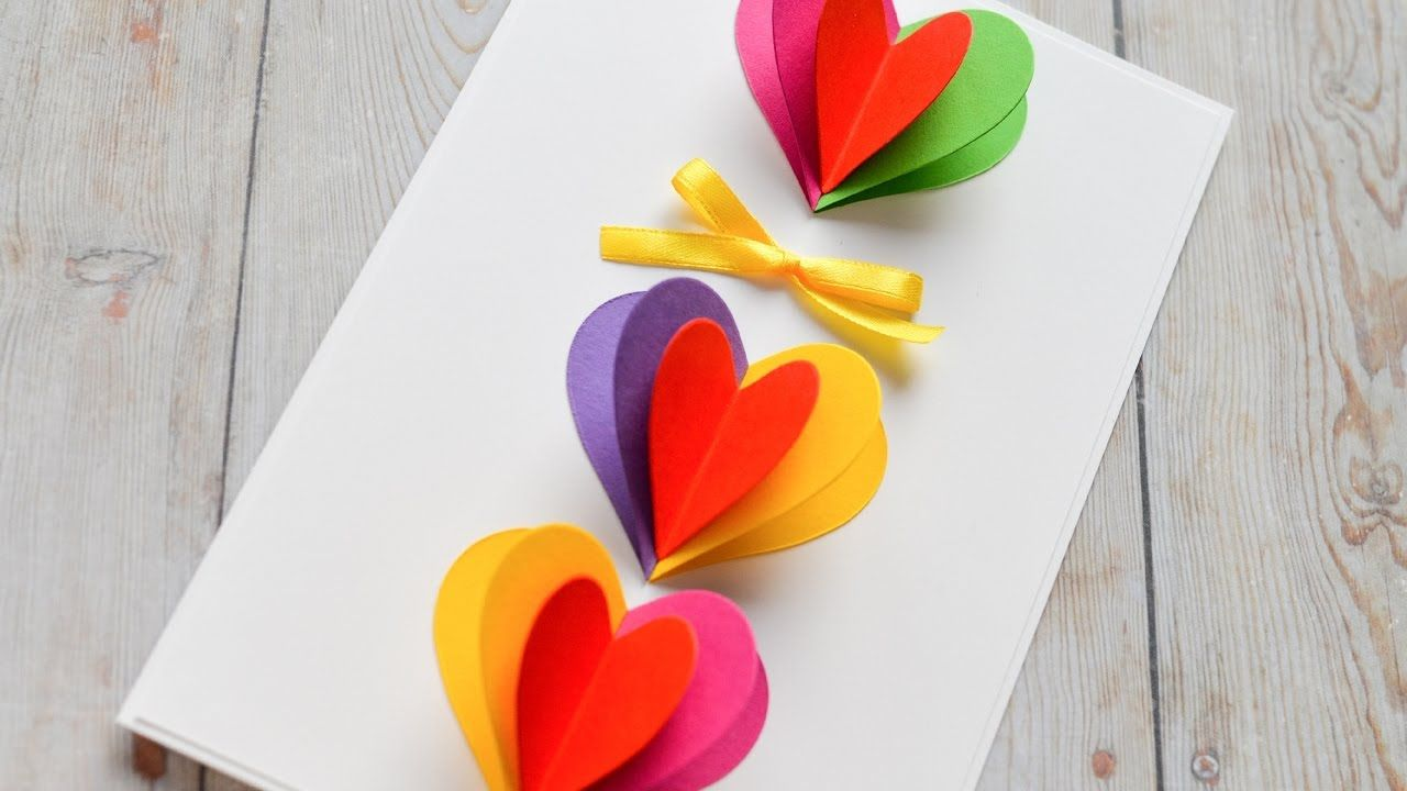 How To Make Pop Up Greeting Card Valentines Day Step By Step