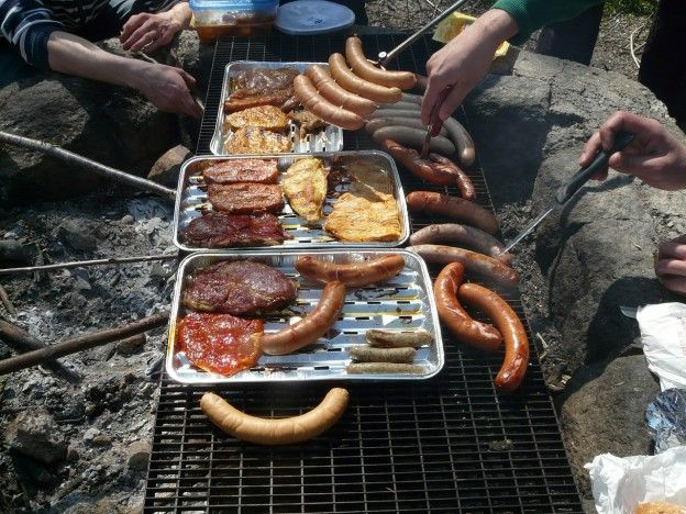 Go rustic by with a cookout over your fire pit! You will ...