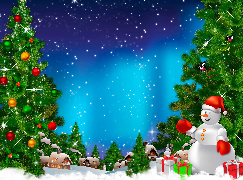 Рождественские века, коллаж открытка новый год