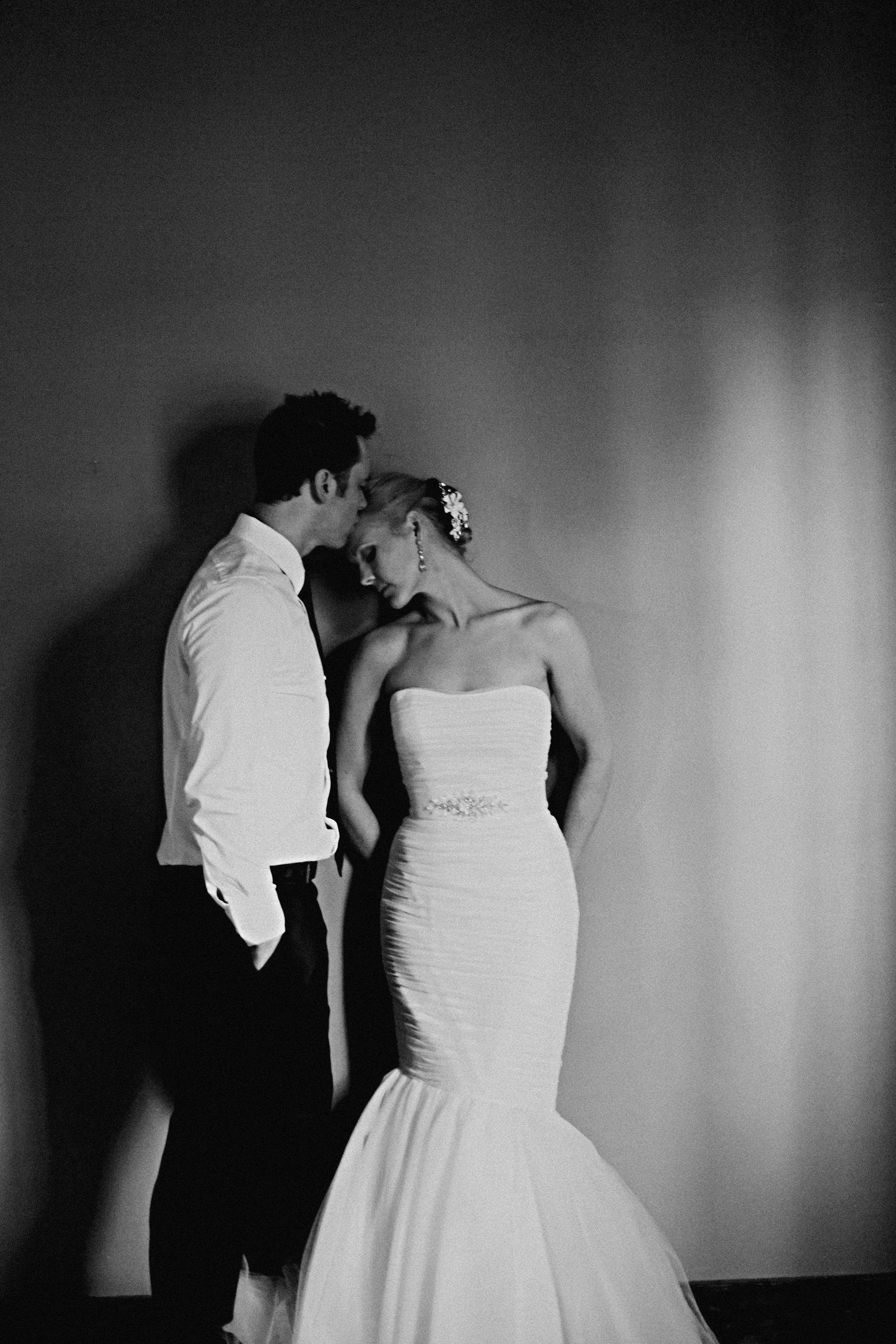Wedding; Romantic Bride And Groom Pose