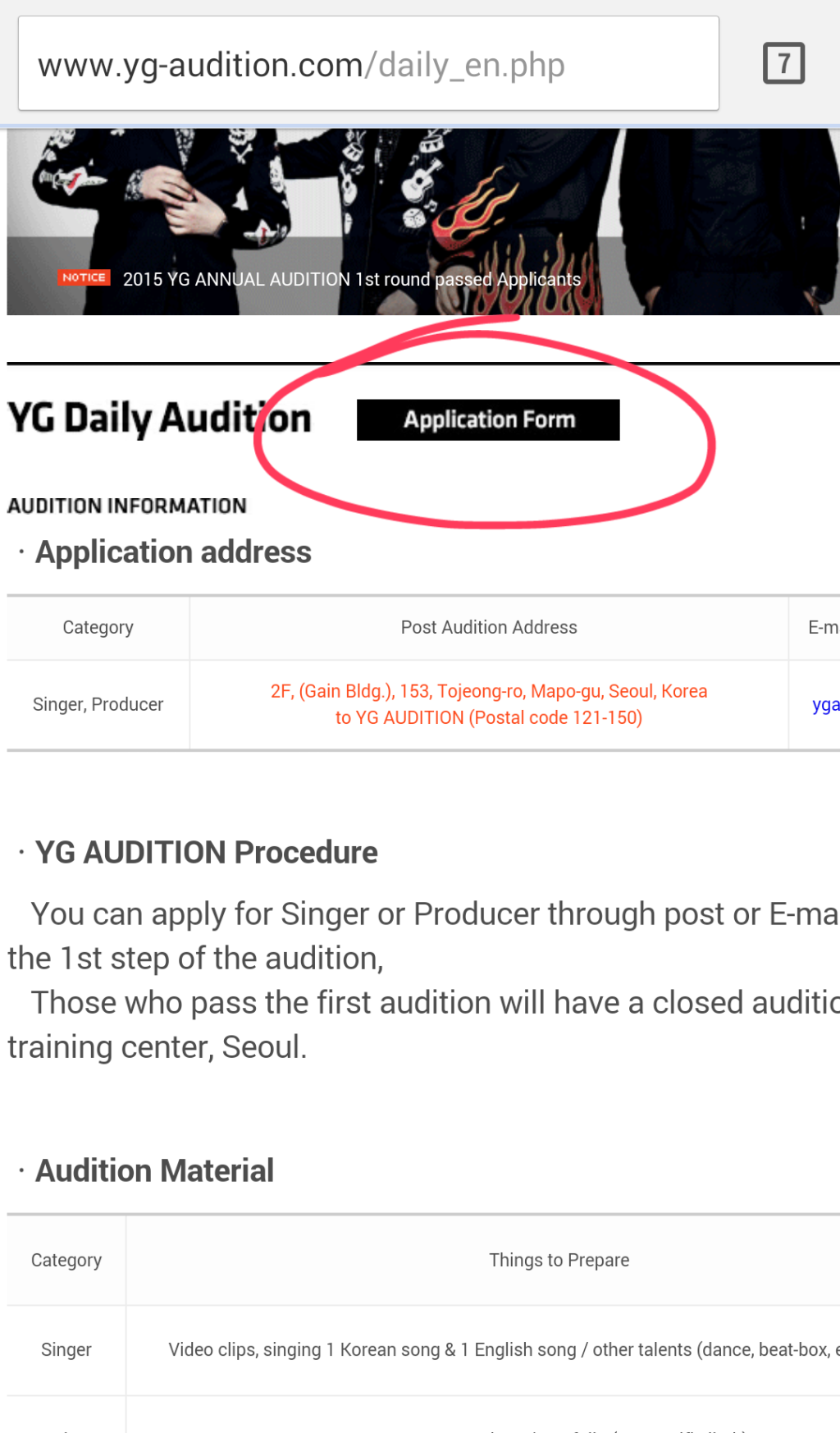 How To Yg Daily Audition For International Auditionees Young Monochrome Audition Daily Young