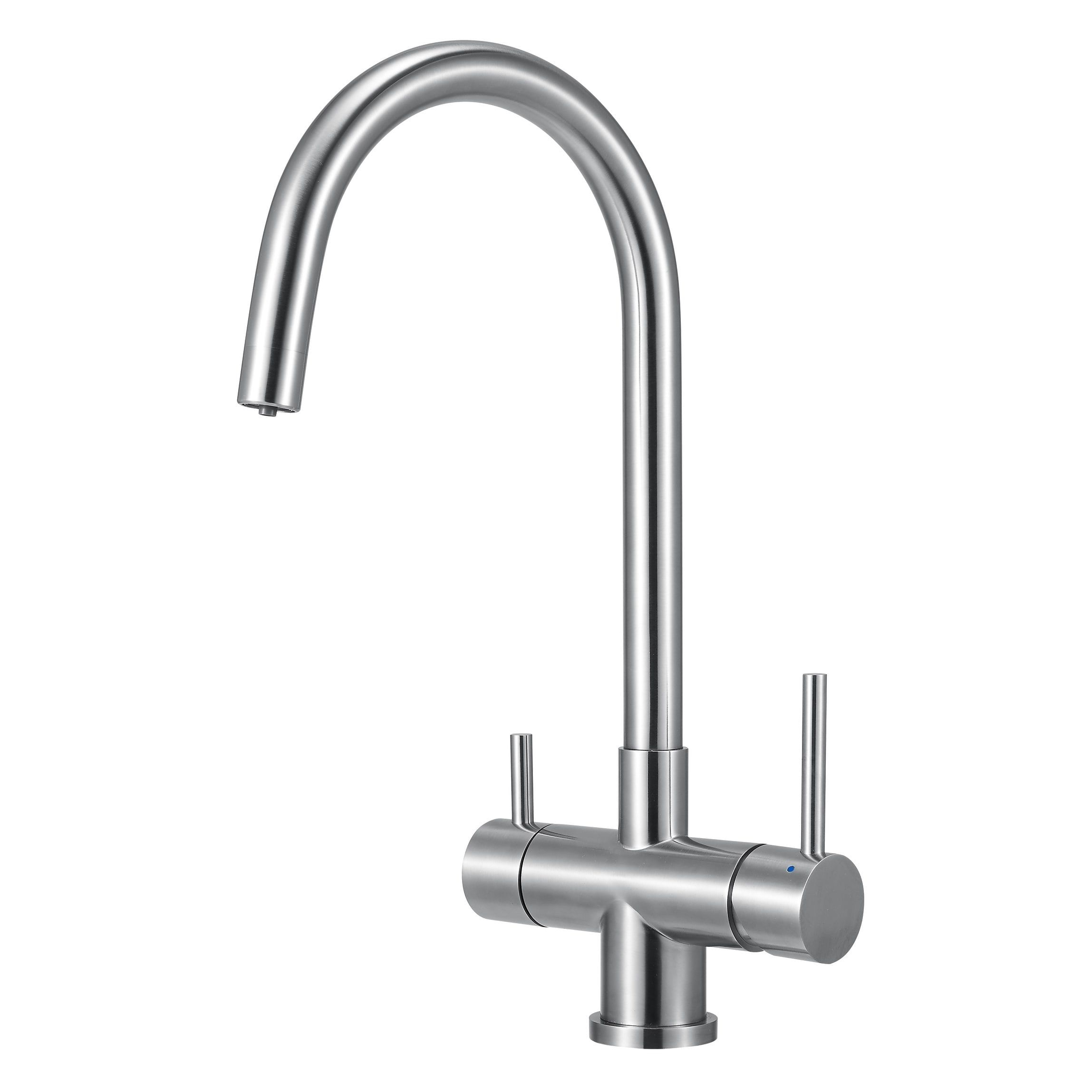 Alfi brand AB2042-BSS Brushed Stainless Steel Kitchen Faucet ...
