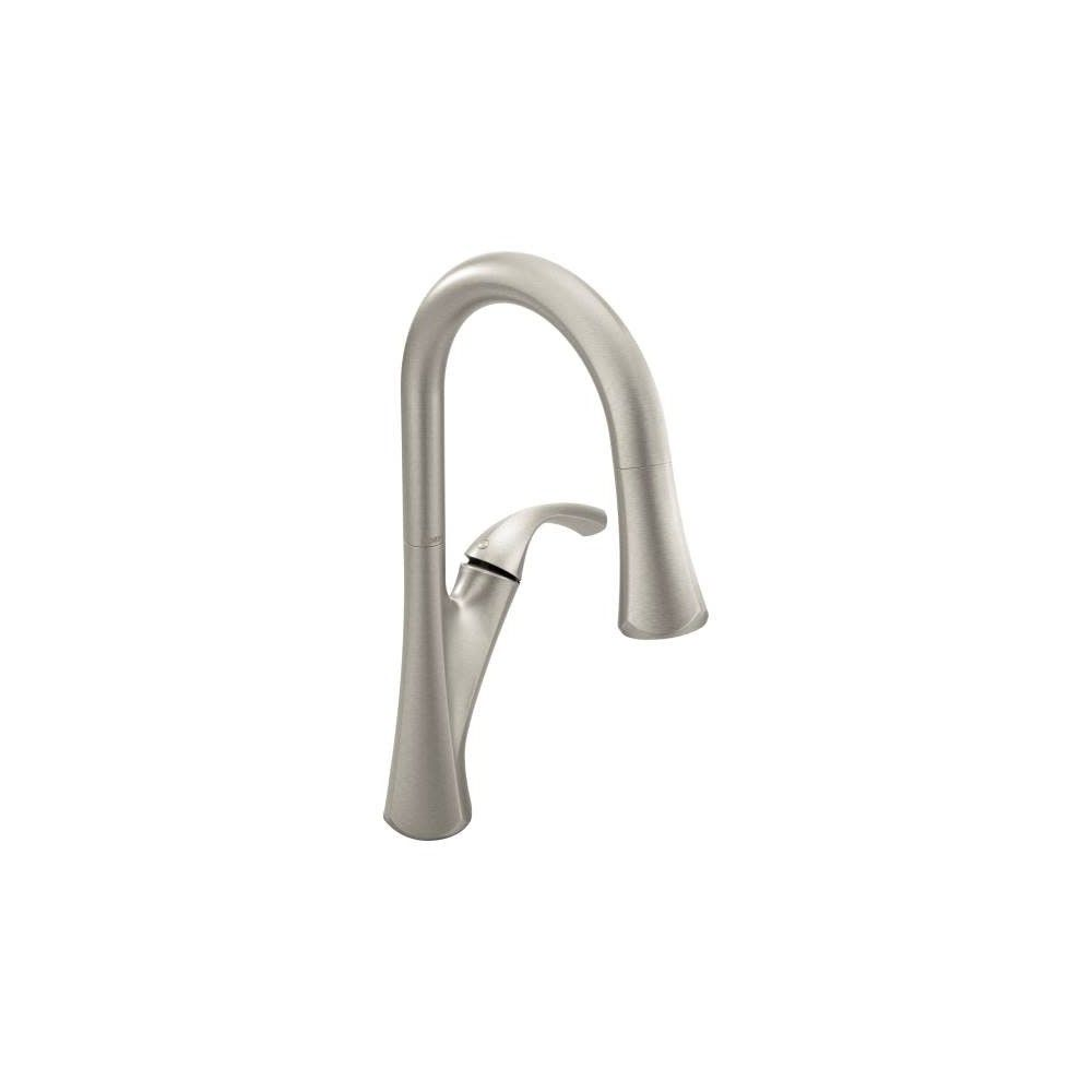 Moen 9124 Notch Pulldown Spray High Arc Kitchen Faucet With