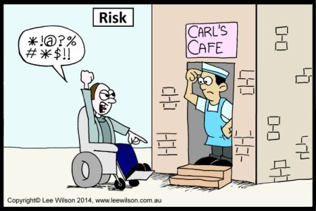 Melbourne Access Consultant Lee Wilson Disability Cartoon For People With Advocate In Accessibility Author Designer