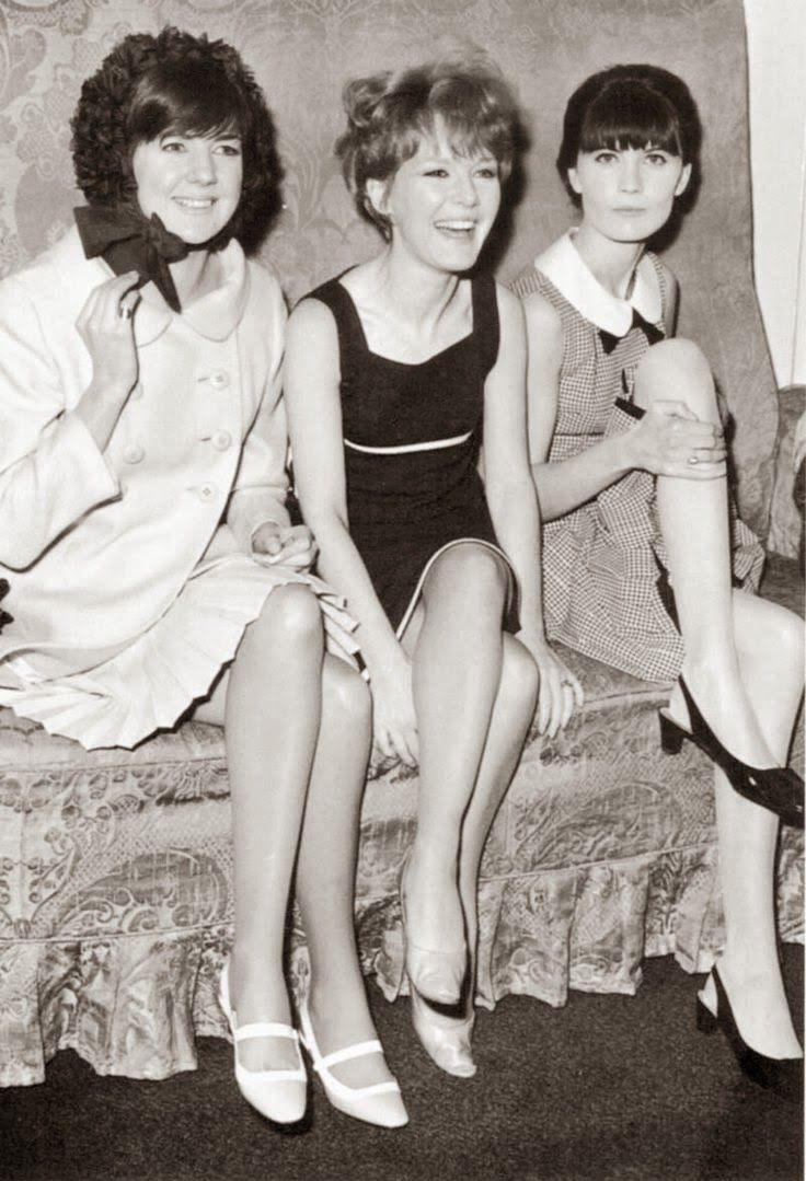 Cilla Black, Petula Clark And Sandie Shaw Relax At A