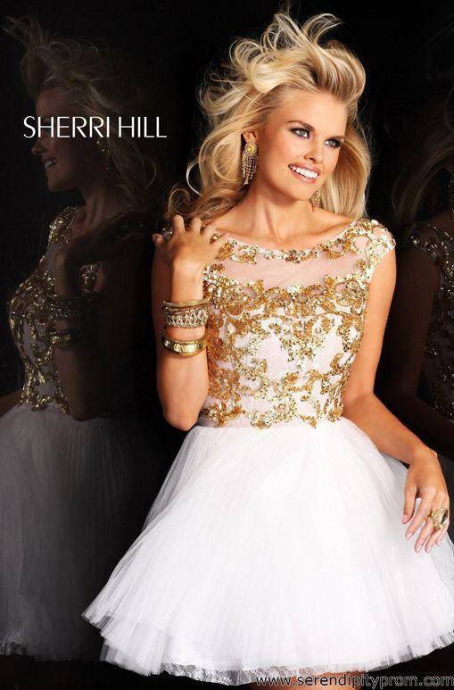 Sherri Hill 21032 prom dress lovely upper bodice with high neckline ...