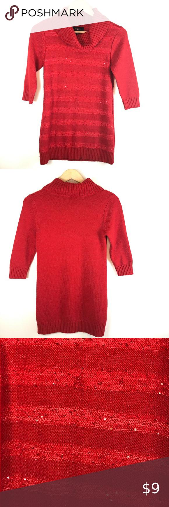 Amy Byer Girls Sweater Dress Red Size Xl W Sequins In 2020 Girls Sweater Dress Girls Sweaters Clothes Design [ 1740 x 580 Pixel ]
