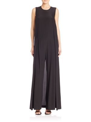 5bcf71ed1468 DKNY Sleeveless Wide Leg Jumpsuit.  dkny  cloth  jumpsuit