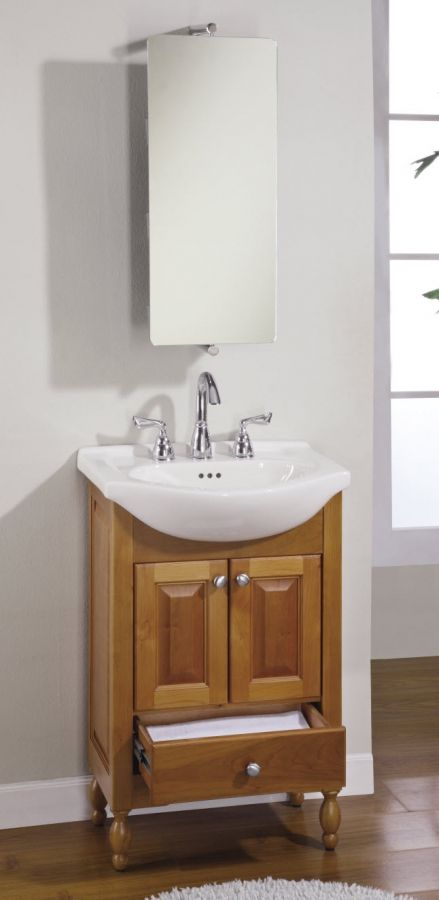 22 Inch Narrow Depth Console Bath Vanity Custom Options With
