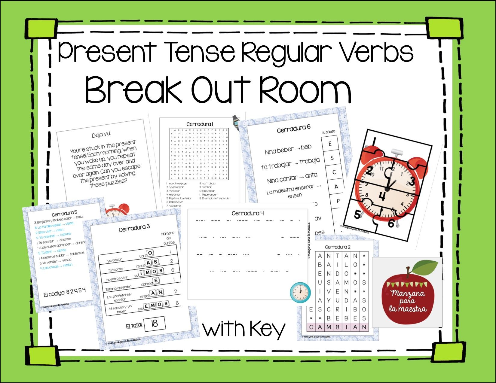 Pin By Traci Martinez On Spanish Ideas Verbs Activities Regular Verbs Present Tense Verbs [ 1275 x 1650 Pixel ]